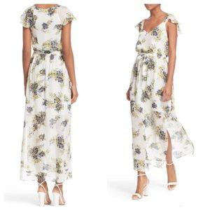 "Joie ""Astilbe"" silk floral flowy maxi dress"